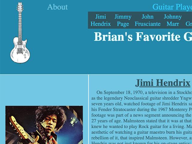 brian's favorite guitarists