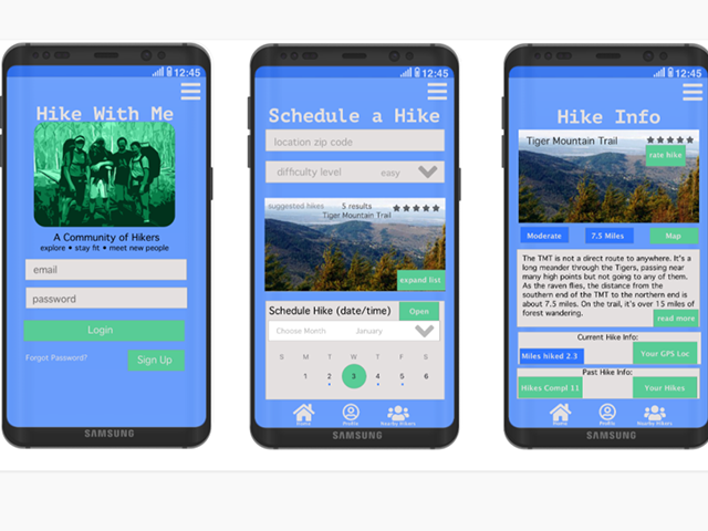 hiking app prototype