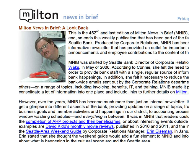 milton news and brief