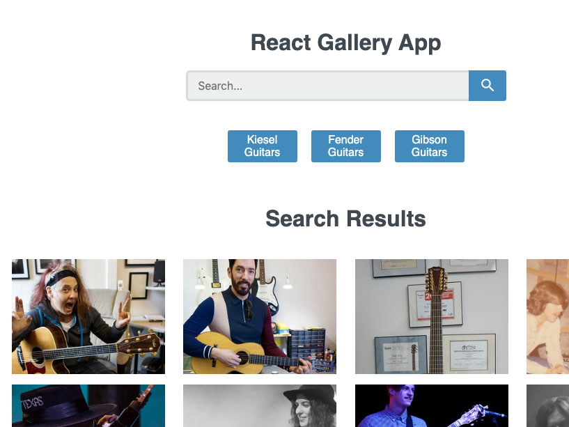 react gallery